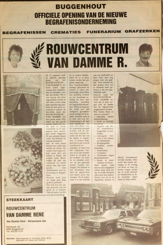 Rouwcentrum Van Damme